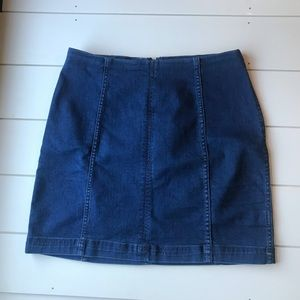 Free People Size 10 denim skirt